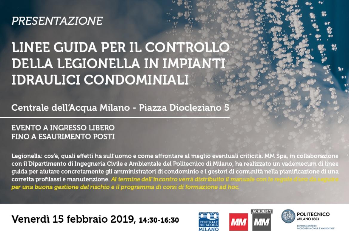 Politecnico Milano Calendario.Linee Guida Per Il Controllo Della Legionella In Impianti
